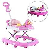 Lauflernhilfe Racer, Baby Walker, Gehfrei Laufhilfe Lauflernwagen Laufstuhl Höhenverstellbar Mit Spielcenter Gehfrei Gehhilfe Baby Walker in 3, Pink