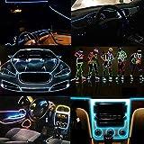 Lorenlli Flexible EL Wire Neon Light 3 Metros para la Fiesta de Baile Decoración del Coche con el Controlador Impermeable del vehículo del Coche Zapatos de luz LED