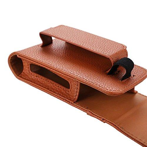 Litchi Haut Textur Elektrische Zigarette PU Ledertasche Cover Portabler Tasche mit Gürtel Loop & Clip Haken für E-Zigarette ( Color : Black ) Rose