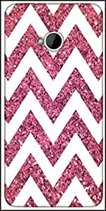 Snoogg Chevron Pinks Designer Protective Back Case Cover For HTC M7