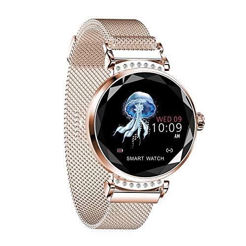 LXIANGP Smart Watch Armband Damen Physiologische Erinnerung Herzfrequenz Blutdruck Schlaf Erkennung Sport wasserdichte Magnetuhr Mit USB Lade Unterstützung Android Und IOS (Color : D) Lg Gps-systeme