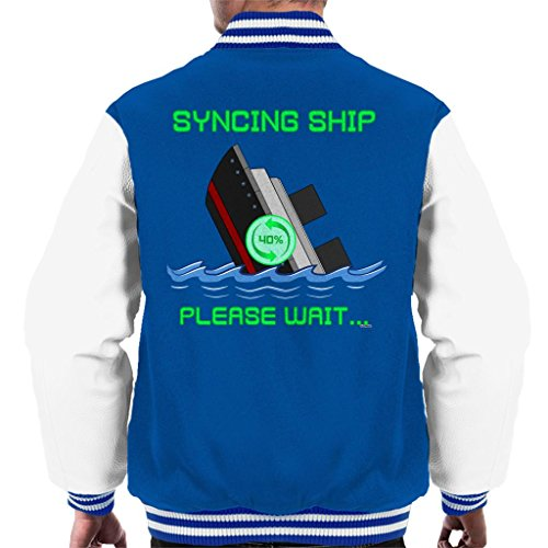 Colour Syncing Ship Please Wait Men's Varsity Jacket