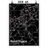 Mr. & Mrs. Panda Poster DIN A5 Stadt Reutlingen Stadt Black