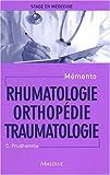Rhumatologie Orthopédie Traumatologie