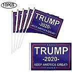 kgjsdf Handheld Trump Mini-Flagge, Donald Trump, für die Flagge von Europa 2020, hält Amerika toll, unterstützt Donald Trump, 14,5 x 20,3 cm