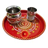 Salvus App SOLUTIONS Handmade Decorated Om Pooja Thali Set For Karwa chauth,karwa chauth thali set,karwa chauth channi,karwa chauth thali,karwa chauth thali set,karwa chauth thali,karwa chauth pooja thali,karwa chauth items,karwa chauth gift for wife