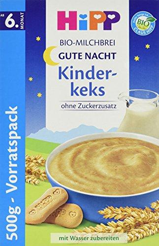 HiPP Bio-Milchbrei Gute Nacht Kinderkeks, 4er Pack (4 x 500 g)