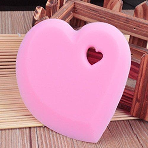 EQLEF® 2 Stücke Heart Shaped hitzebeständigem Silikon-Schaber Küche Pot Scraper Bowl Scraper Küchengeräte für Haus und Kochen