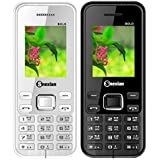 Snexian BOLD 3322 Feature Mobile Phone Combo Of Two Mobiles(White +Black) With 1.8 Inch, Dual Sim, Open FM, 1000 Mah Battery, BLUETOOTH, CAMERA, Upto 16 GB Expandable Memory, BIS CERTIFIED & 1 YEAR WARRANTY
