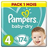 Pampers - Baby Dry - Couches Taille 4 (9-14/8-16 kg) - Pack...