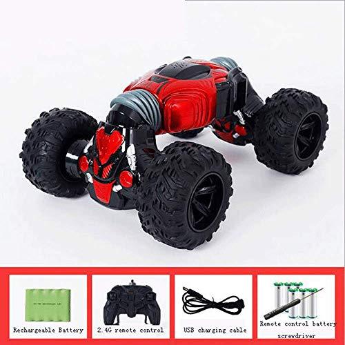 WANGXIAO Ferngesteuertes 4WD Auto,2.4GHz Dual-Modus Bionic Wirbelsäule Alles Gelände Outdoor Full Scale High Speed Hobby Kinder Erwachsene,Red -