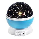 Sternenhimmel Projektor InnooTech Sternen Nachtlicht 360 Grad drehbaren Rotierender Projektor LED Kinder Nacht Lampe 9 Farbkombinationen für Babyzimmer Kinderzimmer Schlafzimmer Weihnachtsgeschenke