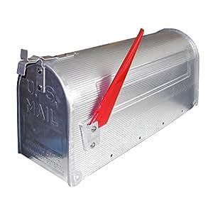 DEMA American Mailbox aus Alu, Silber