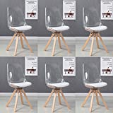 Lot de 6 chaises scandinaves transparentes - Helsinki