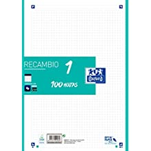 A4 Square Sheets Oxford Refill Ice Mint Color Band 100 Sheets 5x5 Grid.
