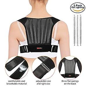 Haltungstrainer, Geradehalter Haltungskorrektur, SGODDE 3 Feder stark Stützung Rückentrainer Schulter Rückenstütze,Schultergurt gegen Nacken -und Schulterschmerzen für Gerader Rücken für Damen Herren
