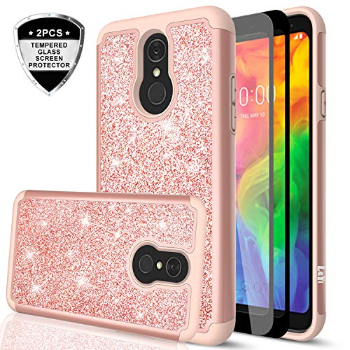 LG Q7 Plus Case LG Q7 Case with Tempered Glass Screen