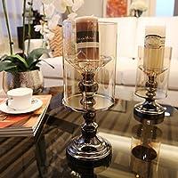 Nuovo stile europeo classico vetro candela ornamenti , large candle holder
