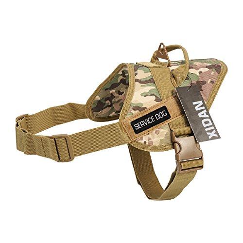 Board Kostüm Spiel Einfach - Shidan Taktische Service Hund Weste Harness Nylon K9 Patrol Military Training Hund Weste mit Griff für das Training Wandern Outdoor Sports (Bonus: SERVICE-DOG-Patch)