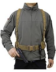 OneTigris Molle táctico cintura cinturón acolchado Airsoft combate cinturón Pad con Suspender, canela