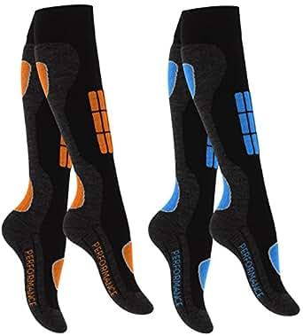 lot de 2 paires de chaussettes hautes de ski snowboard renfort sp cial d 39 origine de vca. Black Bedroom Furniture Sets. Home Design Ideas