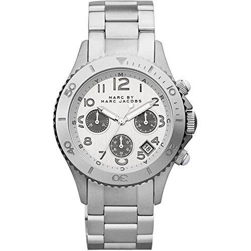Marc Jacobs MBM3155 - Reloj unisex con correa de acero, color plateado/gris