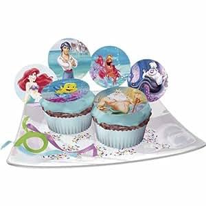 Arielle die Meerjungfrau, Zucker-Muffinaufleger, 12 Stück, versch. Motive