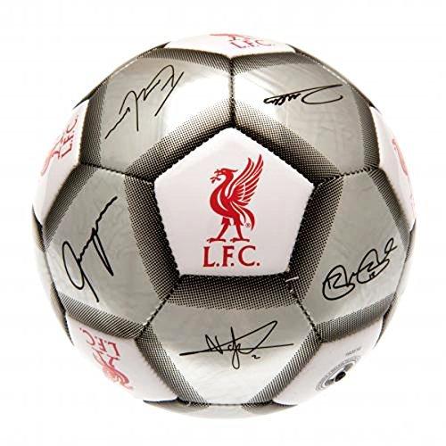 Liverpool F.C. Fußball Signature Silber (SV) Größe 5 (Liverpool-fußball-ball)