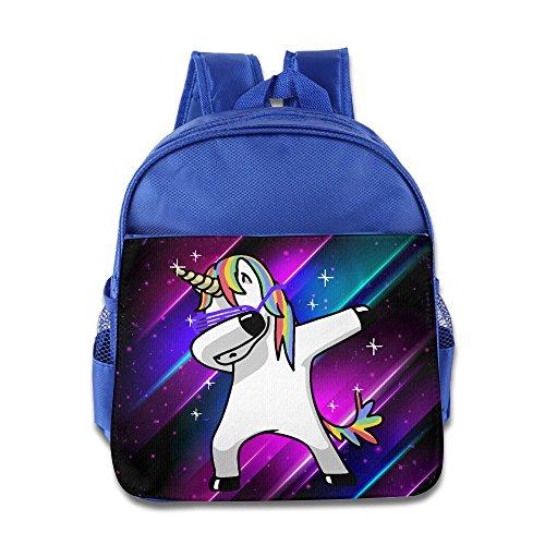 870e61799438 Funny Dabbing Unicorn Cute Unicorn Children Toddler Backpack Preschool  Carry Bag Boys Girls RoyalBlue