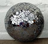 Mosaic Ball - Small Black Decorative Glass Ball (1 Supplied)