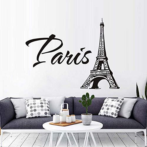 Yzybz Mode Eiffelturm Wandaufkleber Paris Turm Bild Pvc Abnehmbare Wandtattoo Für Wohnzimmer Schlafzimmer Hintergrund Wohnkultur