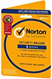 Norton Security Deluxe 3.0 - 1 User, 5 Devices and Utilities 12 Month License Card (PC/Mac)