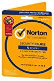 Norton Security Deluxe (Including Antivirus & PC Tune-Up Tools) for 5 Devices - 1 year subscription (PC/Mac/iOS/Android)