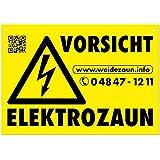 """5x Warnschilder """"VORSICHT ELEKTROZAUN"""" für den Weidezaun"""