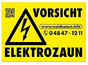 39 5 x cartelli attenzione recinto elettrico per il recinto for Recinto elettrico fai da te