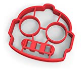 Fred & Friends Funny Side Up Spiegeleiform Roboter 12 x 3 x 13.8 cm rot