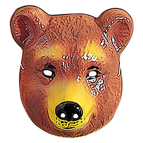 NET TOYS Kinder Bär Maske Bärenmaske braun Bären Maske Bärmaske Tiermaske Kostüm Zubehör - 3 Bären Kostüm