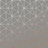 Metro Prism Geometrische Triangle Tapete–Anthrazit und Kupfer–wow007Welt von Tapeten