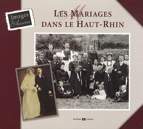 Les mariages dans le Haut-Rhin