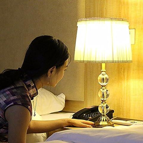 SUNQIAN-Kristall-Tischleuchte, Wohnzimmer Schlafzimmer Nachttisch Kristall