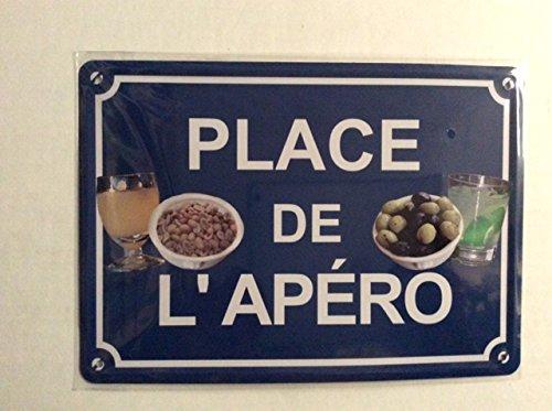 PLAQUE METAL 15x21 cm NEUF / PLACE DE L'APERO