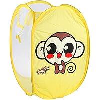 VANKER Animal plegable ropa sucia bolsa de almacenamiento de la cesta de los niños de la cesta - Mono amarillo