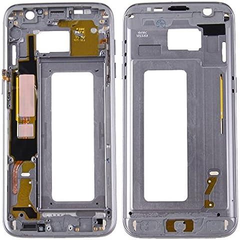 Piezas de repuesto de teléfonos móviles, iPartsBuy para Samsung Galaxy S7 Edge / G935 LCD frontal de la carcasa del capítulo del bisel de la placa ( Color : Gris )