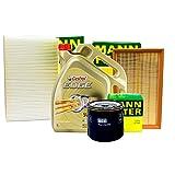 MANN FILTER SET INSPEKTIONSPAKET + 5L CASTROL 5W-30