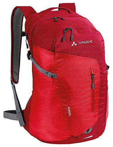 VAUDE–Zaino tecoair, Unisex, Tecoair 26 L, Rosso indiano, 52 x 3 x 28 cm, 26 Liter Rosso indiano