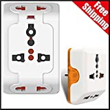 JM 3-Pin Universal Travel Multi-Plug Pow...