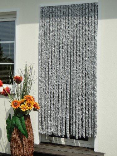Türvorhang Flauschvorhang Flauschi Chenille 115x230 silberweiss