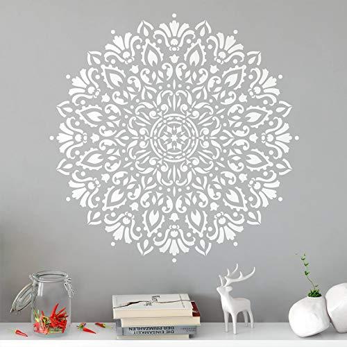 Dongwall Harmonie Mandala Aufkleber erstellen schöne böhmische Wand Vinyl Aufkleber große Boho Dekor für Wohnzimmer 57 * 57 cm (Große Wand-aufkleber-zitate)