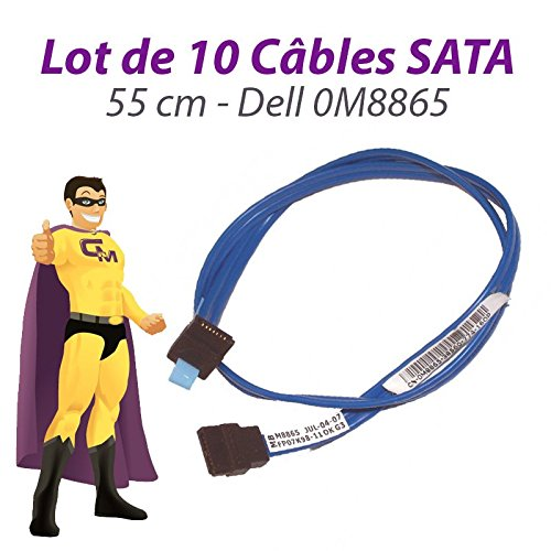 Dell 10 Stück Kabel SATA 0M8865 Optiplex 745 GX520 GX620 Dimension 9100 55cm Blau - Gx520 Computer