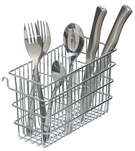 kitchen Craft Cutlery Draining Basket, Steel, Silver, 20 x 8 x 12 cm